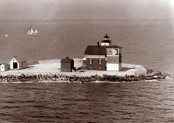 Early Picture of Cedar Point Light