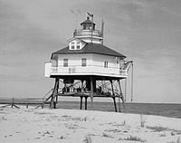 Drum Point Lighthouse at original location