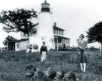 Turkey Point Light with Keeper's House